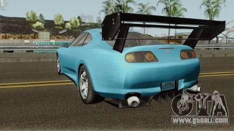 Dinka Jester Classic or F&F GTA V for GTA San Andreas back left view