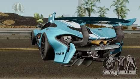 Mclaren P1 GTR 2016 for GTA San Andreas back left view