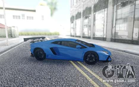 Lamborghini Aventador for GTA San Andreas back left view