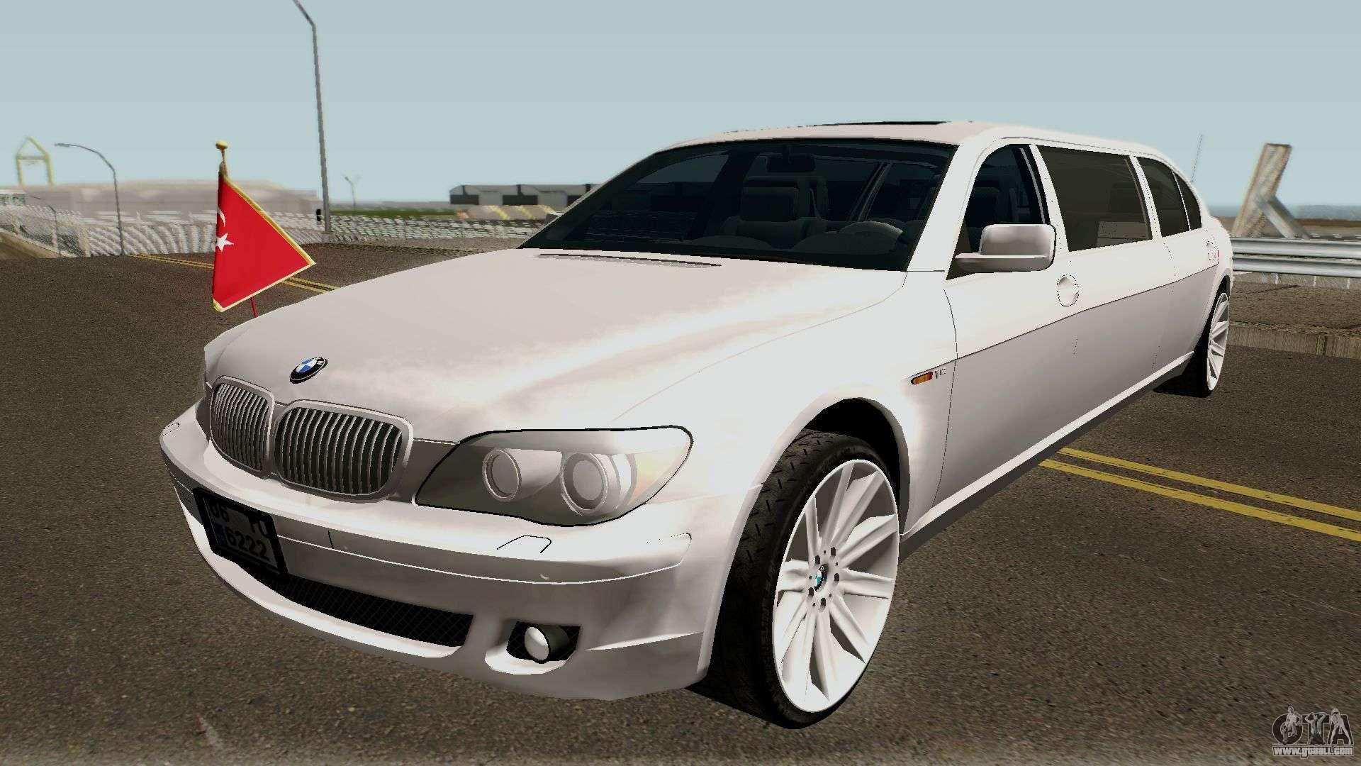 bmw 760li e66 w12 limousine for gta san andreas. Black Bedroom Furniture Sets. Home Design Ideas
