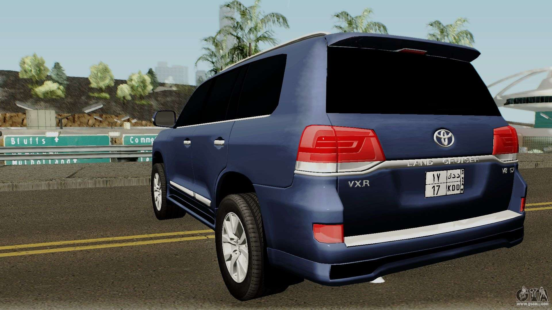 toyota land cruiser vxr 2017 for gta san andreas. Black Bedroom Furniture Sets. Home Design Ideas