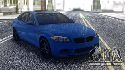 BMW M5 F10 Blue for GTA San Andreas
