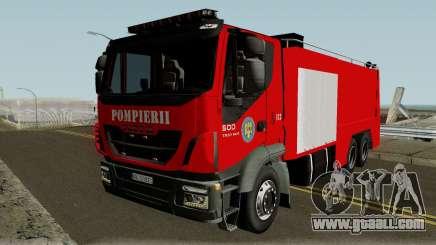 Iveco Trakker Pompieri - Romanian Firetruck for GTA San Andreas
