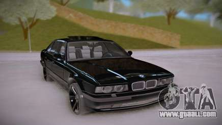 BMW E34 Black for GTA San Andreas