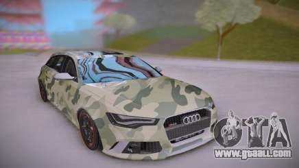 Audi RS6 Camo for GTA San Andreas