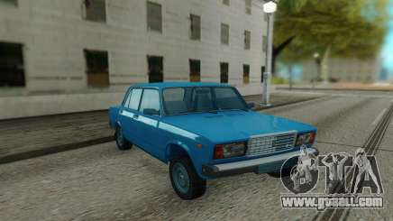 2107 Blue sedan for GTA San Andreas