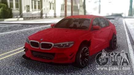 BMW M5 F90 Red Sedan for GTA San Andreas