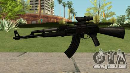 AK47 Black for GTA San Andreas