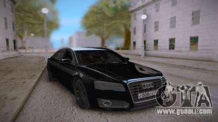 Audi S8L 2015 Black for GTA San Andreas
