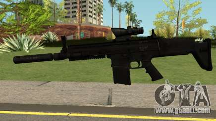 SCAR-H-A1 BLACK for GTA San Andreas