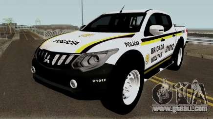 Mitsubishi Nova L-200 e Hilux da Brigada Militar for GTA San Andreas