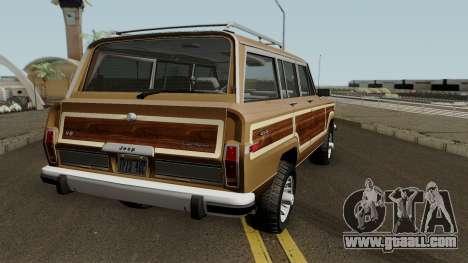 Jeep Grand Wagoneer 1986 for GTA San Andreas