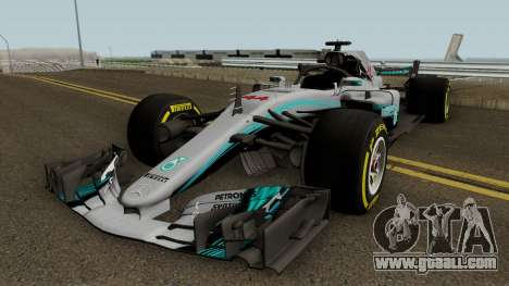 Mercedes Benz W09 2018 for GTA San Andreas