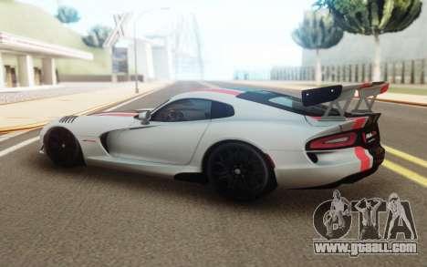 Dodge Viper for GTA San Andreas left view