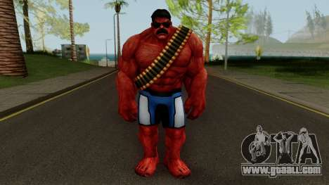 MFF Red Hulk USA Avengers for GTA San Andreas second screenshot