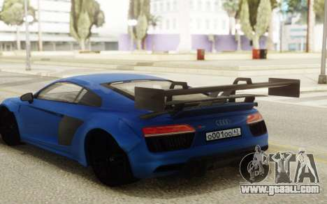 Audi R8 Carbon Spoiler for GTA San Andreas back left view