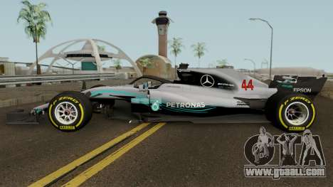 Mercedes Benz W09 2018 for GTA San Andreas left view