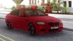 BMW M5 F10 Red RUS Plate for GTA San Andreas