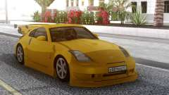 Nissan 350Z Yellow Tuning for GTA San Andreas