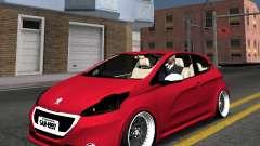 Peugeot 208 GTI black STANCE for GTA San Andreas