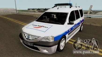 Dacia Logan MCV - Police Nationale 2004 for GTA San Andreas
