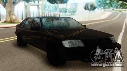 Mercedes-Benz S600 Pure Black for GTA San Andreas