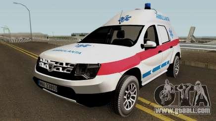Dacia Duster Ambulanta 2018 for GTA San Andreas