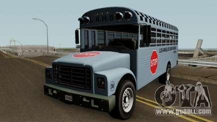 Vapid School Bus Los Angeles v1.0 GTA V for GTA San Andreas