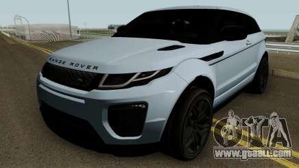 Land Rover Range Rover Evoque HQ for GTA San Andreas