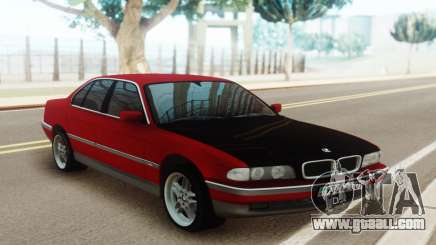 BMW 730 E38 Red Black for GTA San Andreas