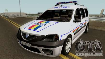 Dacia Logan MCV - Politia Romana 2004 for GTA San Andreas