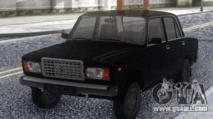 VAZ 2107 Black Stock for GTA San Andreas