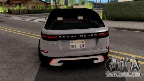 Land Rover Range Rover Velar 2018 for GTA San Andreas