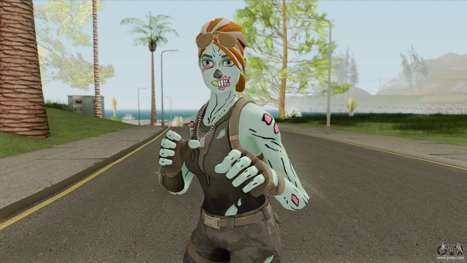 Ghoul Trooper Female From Fortnite For Gta San Andreas