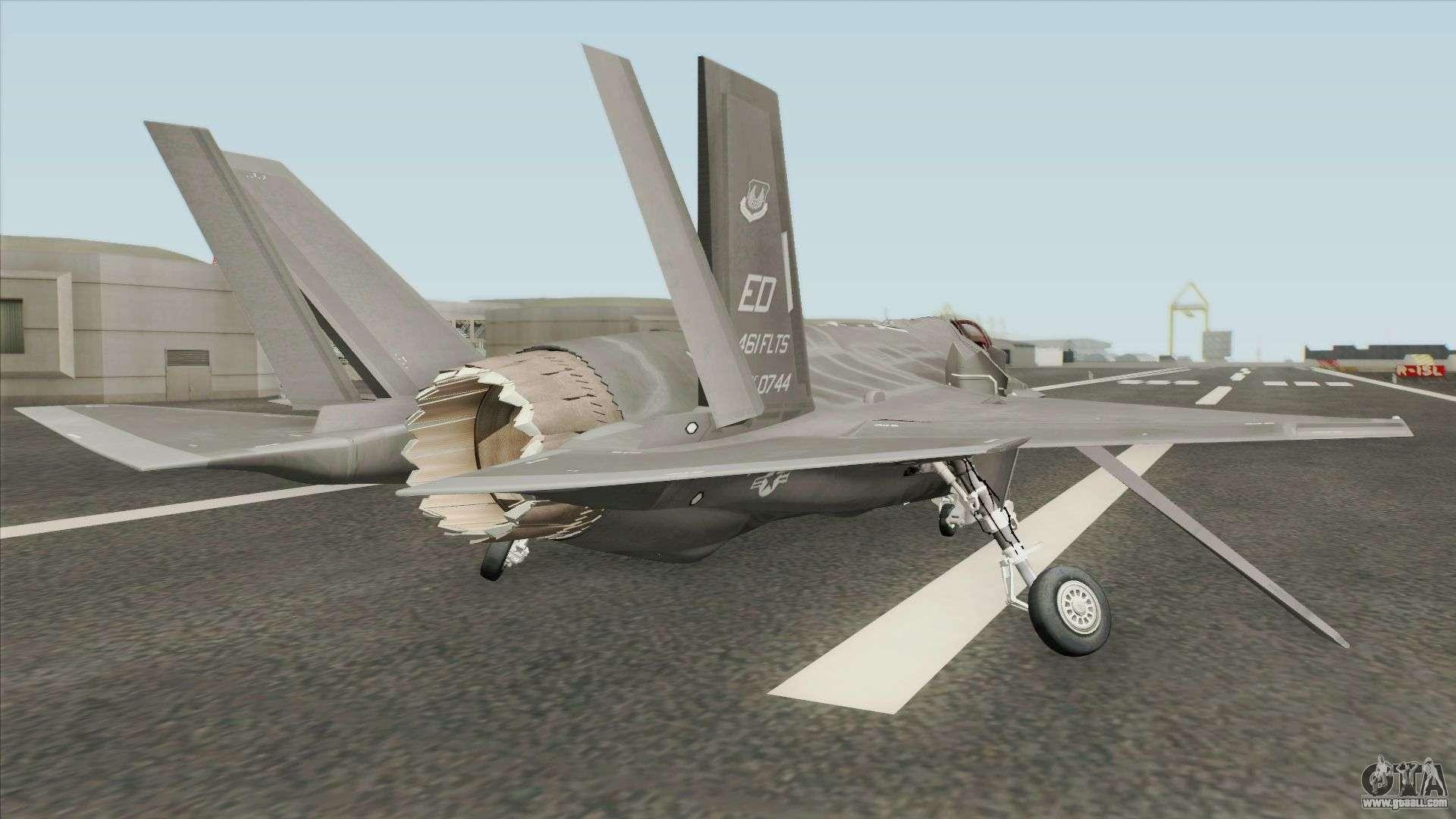 Lockheed Martin F-35A Lighting II Gray for GTA San Andreas