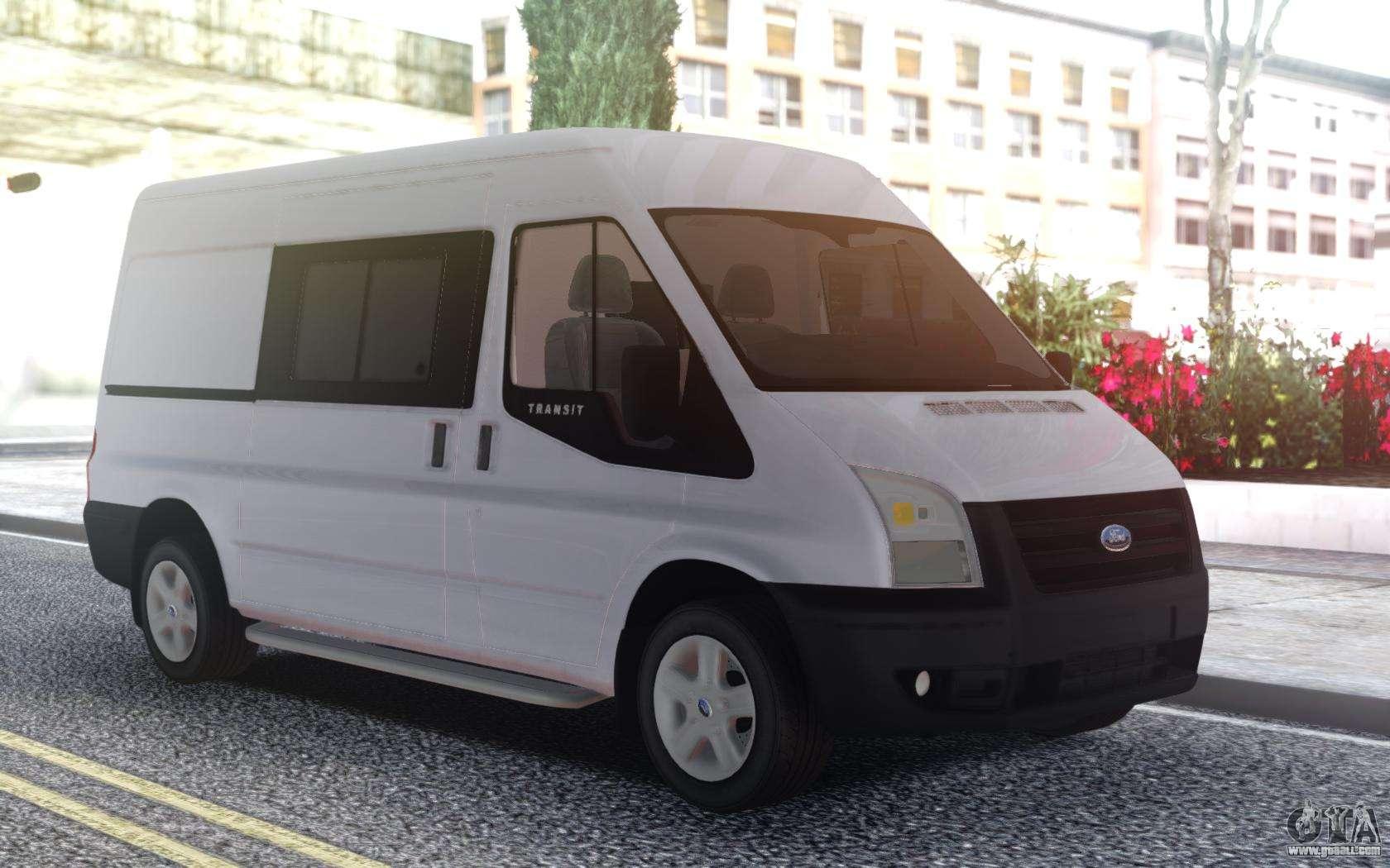 Ford Passenger Van >> Ford Transit White for GTA San Andreas