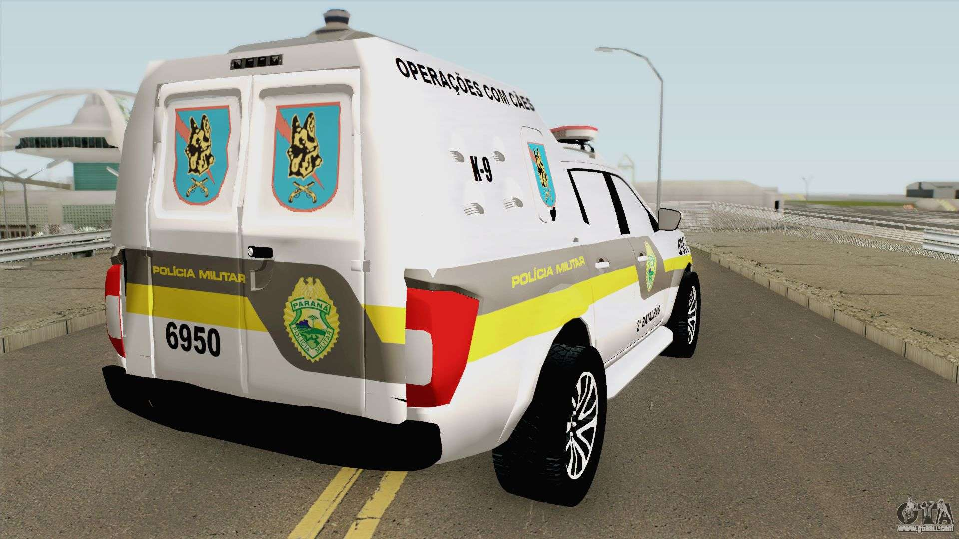 Nissan Frontier 2017 (Policia Militar) For GTA San Andreas