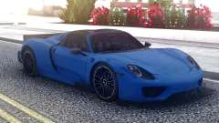Porsche 918 Spyder Blue for GTA San Andreas