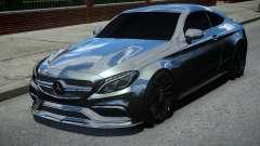 Mercedes-Benz C63 AMG Black for GTA 4