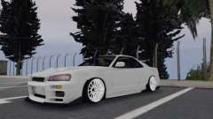 Nissan Skyline R34 White for GTA San Andreas