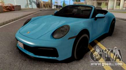 Porsche 911 Carrera 4S Cabriolet 2020 for GTA San Andreas