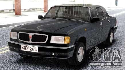 GAZ 3110 Volga Black for GTA San Andreas