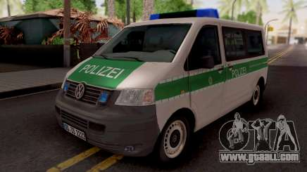 Volkswagen Transporter T5 Polizei for GTA San Andreas