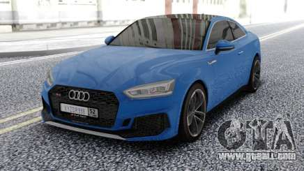 Audi RS5 Blue for GTA San Andreas