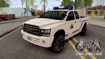 Bravado Bison 2013 Hometown PD Style for GTA San Andreas