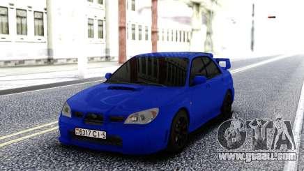 Subaru WRX STI 2004 Blue for GTA San Andreas
