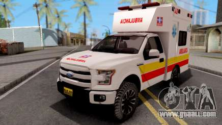 Ford F-150 Ambulancia de Bogota for GTA San Andreas