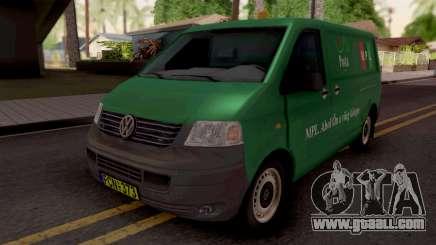 Volkswagen Transporter T5 Magyar Posta for GTA San Andreas
