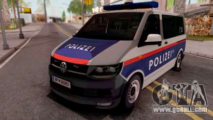 Volkswagen Transporter T6 Osterreich Polizei for GTA San Andreas