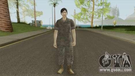 GTA Online Random Skin 29 (Female U.S. Miltary) for GTA San Andreas